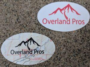 Overland Pros Sticker Small Round